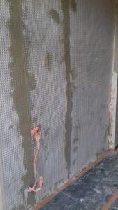 vochtwerend membraan op muur